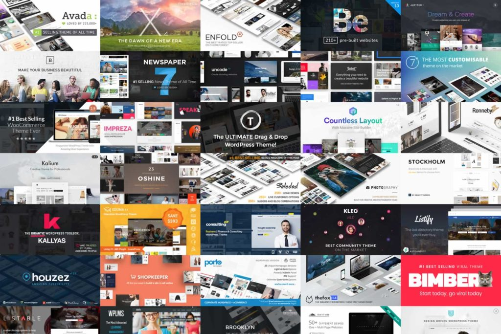 website collage
